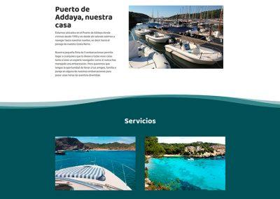 Addaia Charters Web